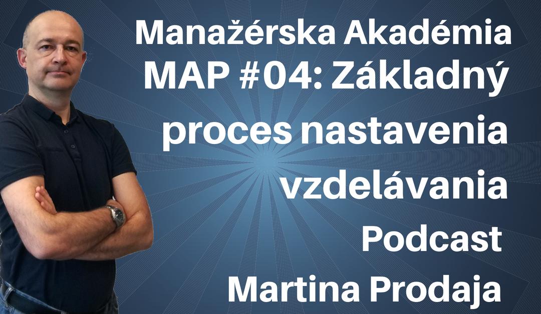 MAP #04: Základný proces nastavenia vzdelávania